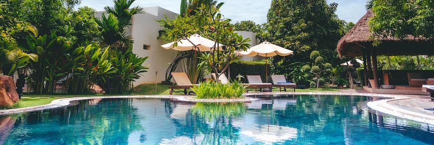location per festa in piscina