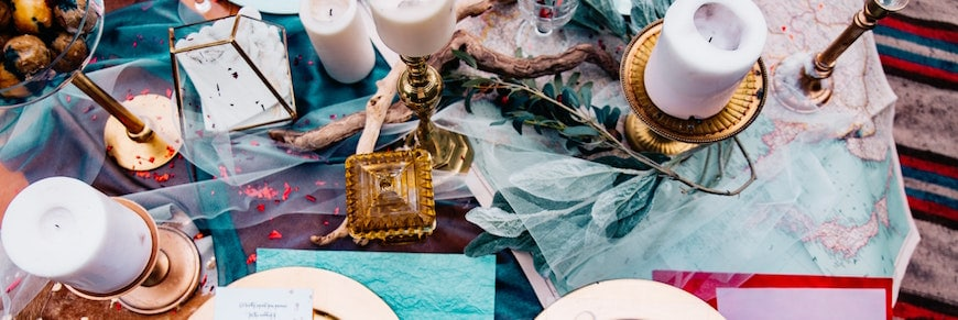 addobbi e buffet per un elopement wedding