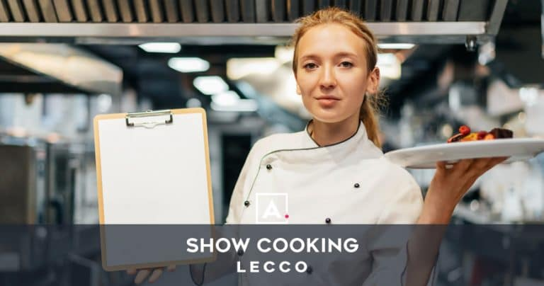 Cooking team building a Lecco